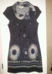 Aryeh short dress Black/Grey/White on Tradesy