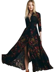 Maxi Dress by Free People Maxi After The Storm Floral Shirt