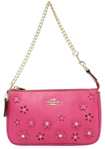 Coach Coach Large Wristlet in Dahlia Floral Applique Leather F65471