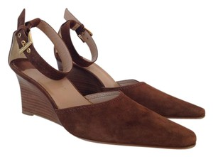 Franco Sarto Suede Brown Pumps