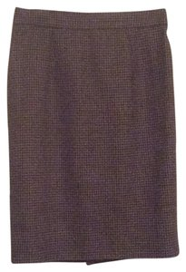 Burberry Blue Label Skirt Taupe blaclk plaid