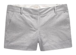 J.Crew Preppy Mini/Short Shorts BLACK GRAY WHITE SEERSUCKER