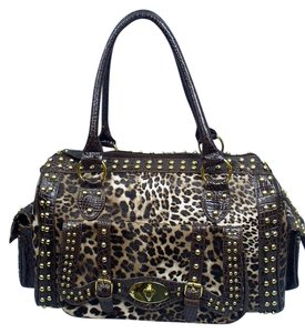 Other Leopard Croc Tote Satchel in Leopard Print