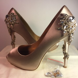 Badgley Mischka Royal Satin pink Platforms