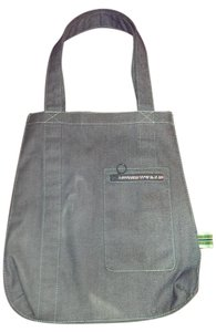 Gap Tote in Denim with rainbow zipper