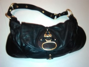 Juicy Couture Thick Leather Brass Hardware Hobo Bag
