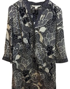 Diane von Furstenberg short dress Flower Power Midnight/ Dream Dot Midnight on Tradesy