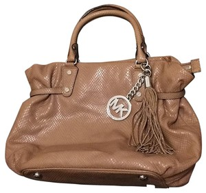 Michael Kors Mk Satchel in Dark Dune with Silvertone Hardware