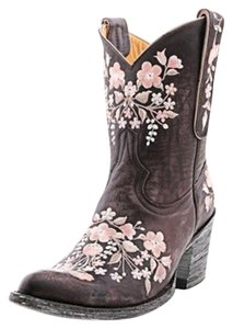 Old Gringo Chocolate Brown and light pink Boots