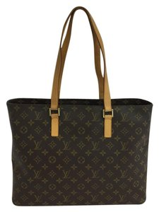 Louis Vuitton Lv Brown Canvas Luco Tote in Monogram