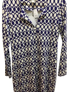 Diane von Furstenberg short dress Diamond Collage Chrome Purple on Tradesy