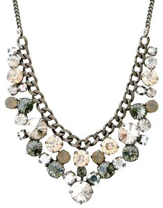 Sorrelli Sorrelli Chunky Round Crystal Cluster Necklace Style NCW10ASGNS