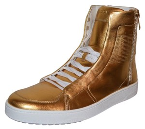 Gucci Sneakers Sneakers Mens Hitop Sneakers Gold Athletic
