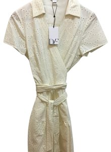 Diane von Furstenberg short dress Ivory on Tradesy