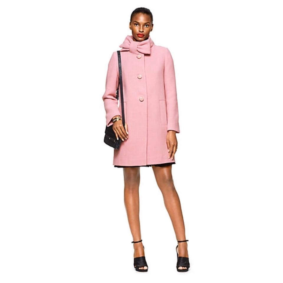 Kate Spade Bow Neck Wool Pea Coat on Tradesy