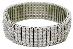 Jascott Wide CZ Bracelet Cuff, Bridal, Evening, Cocktail Hour