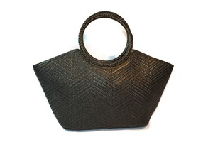 Maxx New York Woven Handbag Tote in Black