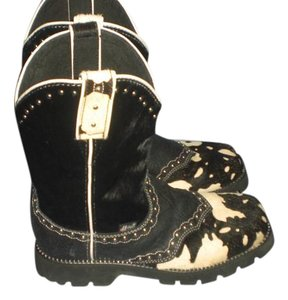 Justin black/ivory Boots