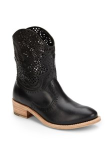Sergio Rossi Leather Western Cowboy black Boots