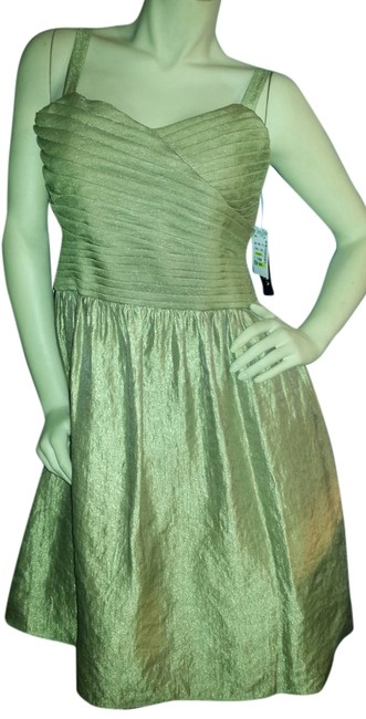 Preload https://item4.tradesy.com/images/light-green-fit-and-flare-knee-length-cocktail-dress-size-petite-14-l-1992843-0-0.jpg?width=400&height=650