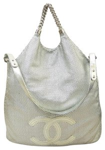 Chanel Rodeo Drive Satchel in silver