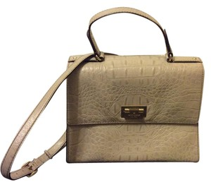 Kate Spade Leather Satchel in Beige