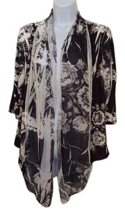 Sienna Rose Travel Wear Evening Wear Dress Wear The Town Over Top Black and white flowered
