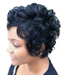 Boutique 9 Spiffy Short Boy Cut Curly Capless Real Natural Hair Wig
