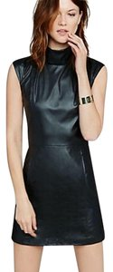 Express Faux Leather Shift Little Dress