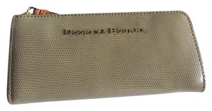 Dooney & Bourke Dooney & Bourke Taupe Snake Embossed Leather Accordion Zip Wallet NWT