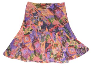 Lauren Ralph Lauren Flare Hem Skirt Multi-Color