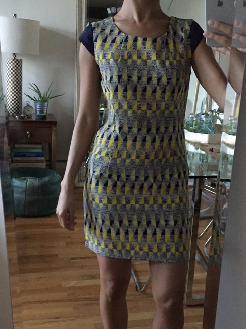 Tenki short dress Blue & Yellow on Tradesy