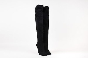 Ralph Lauren Collection Suede Colette Tall B Black Boots