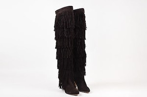 Brian Atwood Suede Brown Boots
