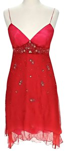 Laundry by Shelli Segal Silk Embellished Sweetheart Dress