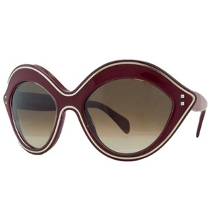 Valentino Valentino Red Oval Sunglasses