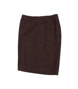 Escada Brown Blue Tweed Pencil Skirt