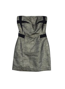See by Chloé short dress Metallic Gold Silver Strapless on Tradesy