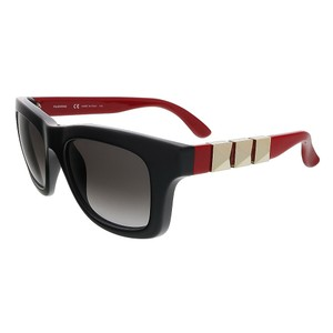 Valentino Valentino Black-Red Square Valentino Sunglasses