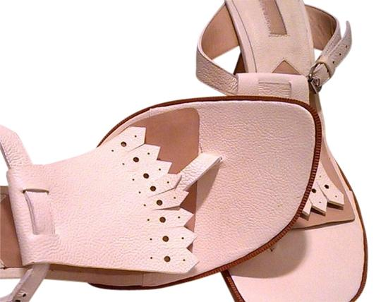 Michael Kors Italy Off White Pebbled Sandals