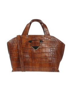 NICOLI Leather Satchel in Brown