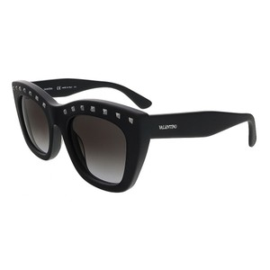 Valentino Valentino Matte Black Cat Eye Valentino Sunglasses
