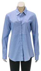 Theory Button Down Shirt Blue/White
