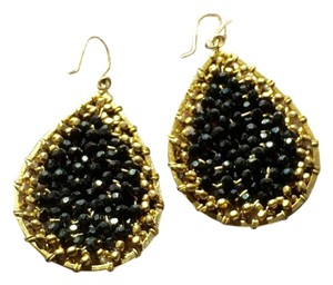 Nakamol Teardrop Bead-Filled Earrings