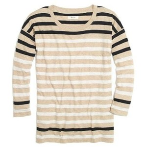 Madewell T Shirt Beige/White/Black