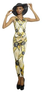 Noneillah Legacy Stretchy Casual Print Gold and Black Leggings