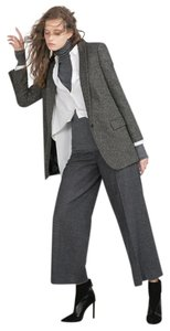 Zara Jacket Wool Work Office Gray Blazer