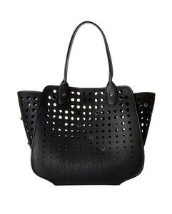 Love Moschino Perforated Tote in Black