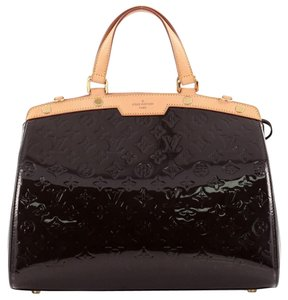 Louis Vuitton Vernis Tote in terre d'ombre