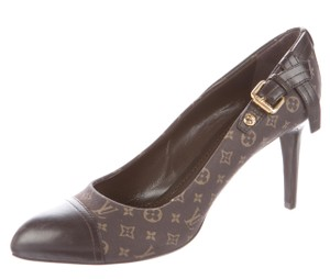 Louis Vuitton Lv Monogram Hidden Platform Brown, Beige Pumps